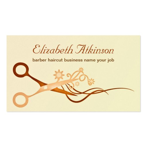 ... barber haircut stylist business card standard business cards : Zazzle