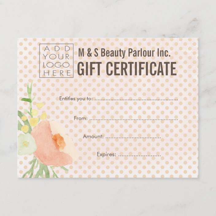 Salon Gift Certificate Template from rlv.zcache.com