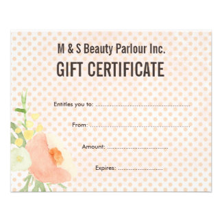 Hair salon certificate flyers programs zazzle hair beauty salon gift certificate template flyer yelopaper