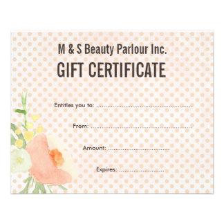 beauty salon gift certificate template free