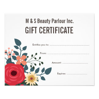 Hair salon certificate flyers programs zazzle hair beauty salon gift certificate template flyer yelopaper Choice Image