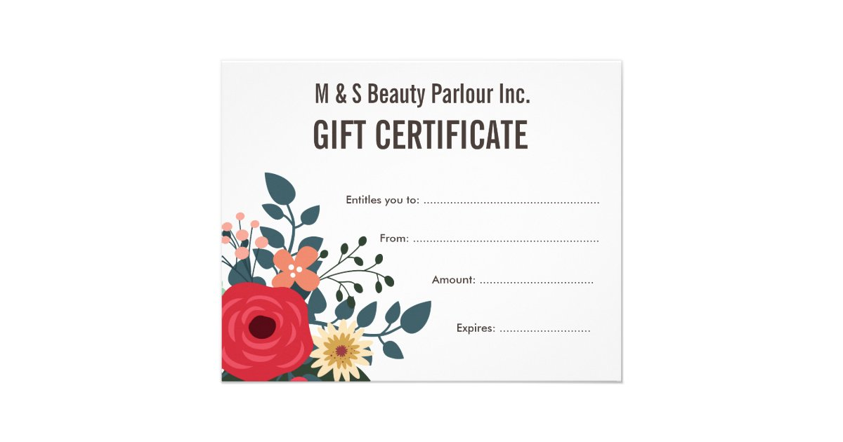 Hair Beauty Salon Gift Certificate Template Flyer   Zazzle