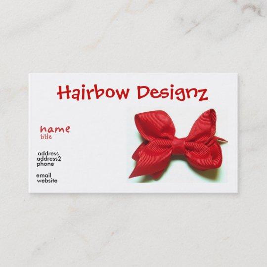 Hair bow business card zazzle hair bow business card colourmoves