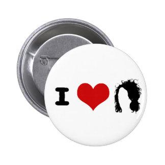 Hair Brand 2 Inch Round Button