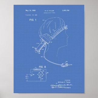 Hair Brushes 1966 Patent Art Blueprint Poster