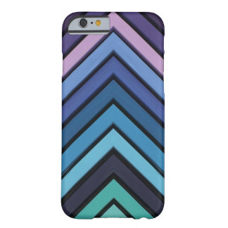 Hair Chalk Chevron Aqua Blue Colors Barely There iPhone 6 Case