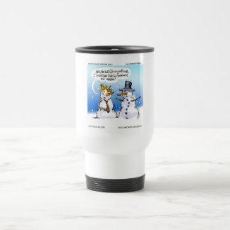 Hair Club For Snowmen Funny Christmas Travel Mug