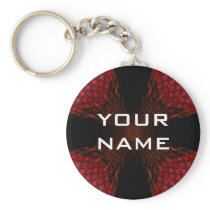 Hair Cross Red Keychain