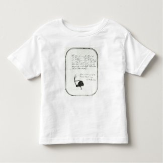 Hair cut from the head of Emperor Napoleon Toddler T-shirt