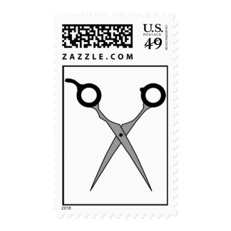 Hair Cutting Scissors (Black & Grey) Postage Stamps