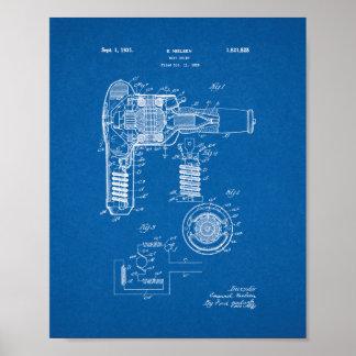 Hair Drier Patent - Blueprint Poster