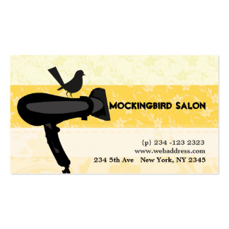 Hair Dryer and Mocking Bird Illustration Business Card Templates