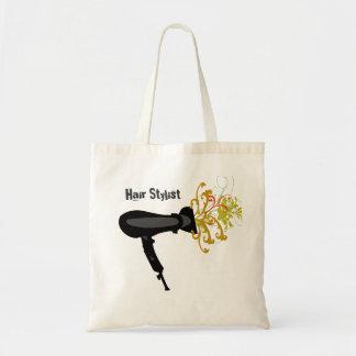 Hair Dryer Blowing Flowers Tote Bag