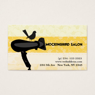 Hair Dryer Mocking Bird Salon Appointment Business Card
