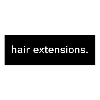 Hair Extensions Business Card