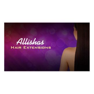 Hair Extensions Business Cards