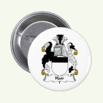 Hair Family Crest Button