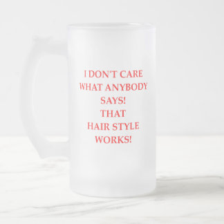 hair frosted glass beer mug