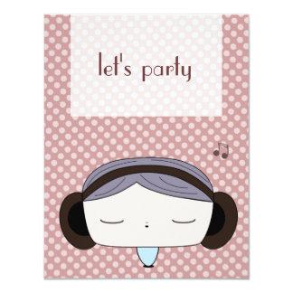 hair girl card