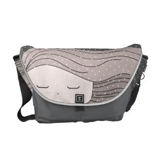hair girl courier bag
