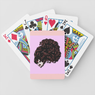 Hair Girl Pink and Red Deck Of Cards