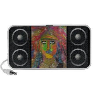 Hair God Digital Art Notebook Speaker