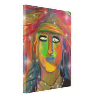 """Hair God"" Digital Painting Canvas Print"