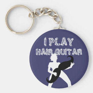Hair Guitar Keychain