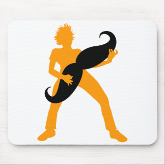 Hair Guitar Mouse Pad
