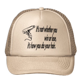 hair humor trucker hat
