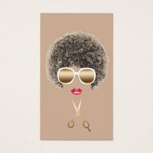 Natural hair business cards templates zazzle hair makeup artist natural hair salon business card colourmoves