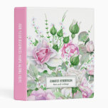 Hair & Makeup Beauty Salon Pink Floral Mini Binder
