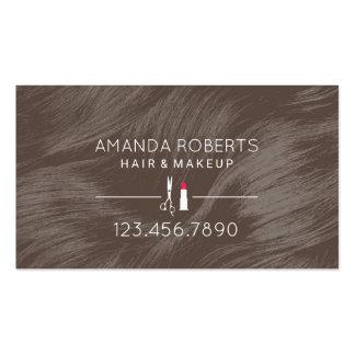 Hair & Makeup Modern Curly Hair Salon Appointment Business Card