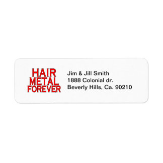 Hair Metal Forever Label