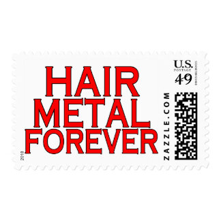 Hair Metal Forever Postage Stamp