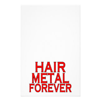 Hair Metal Forever Stationery