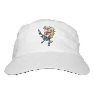 Hair Metal Glam Unicorn With Star Guitar Cartoon Headsweats Hat