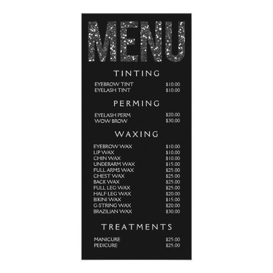 Beauty Florals Nail Salon Price List Service Menu