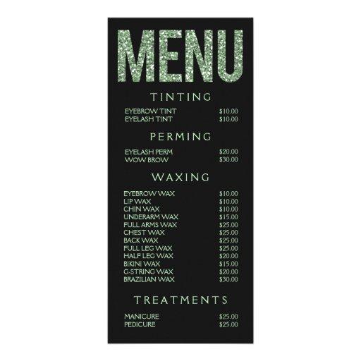 Hair nail salon beautician menu price list zazzle for F salon jaipur price list
