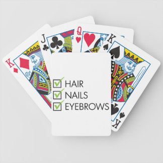 Hair Nails Eyebrows Bicycle Playing Cards