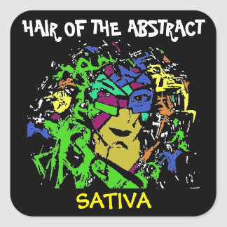 HAIR OF THE ABSTRACT SATIVA SQUARE STICKER