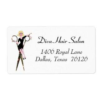 Hair Salon Address Labels zazzle_label