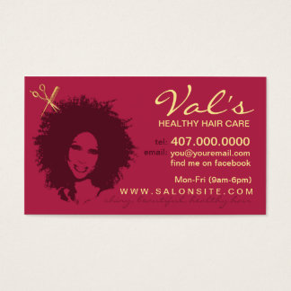 Hair Salon African American Stylist Business Cards