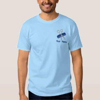 Hair Salon and Barber Embroidered T-Shirt