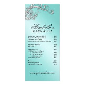 Hair Salon Beauty Rack Card Jewelry Swirl Blue