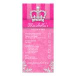Hair Salon Beauty Rack Card Jewelry Swirl Pink