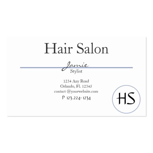 Hair salon beauty salon business card templates zazzle for Hair salon business cards templates free