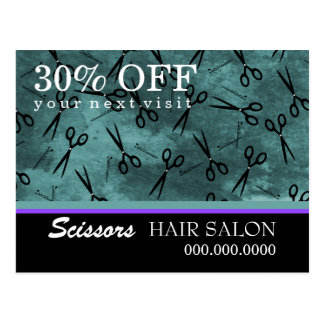 Hair Salon Business Advertising Postcard