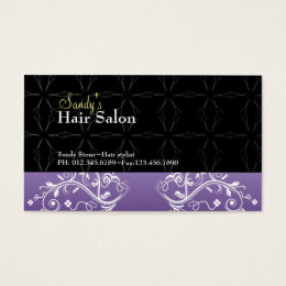 Hair salon business card and appointment card