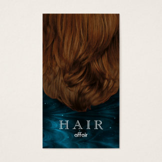 Hair Salon Business Cards Teal Blue Black